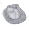 Klobouk třpytky - stříbrný