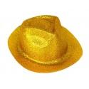 Klobouk třpytky - zlatý