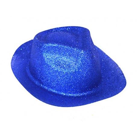 Klobouk třpytky - modrý