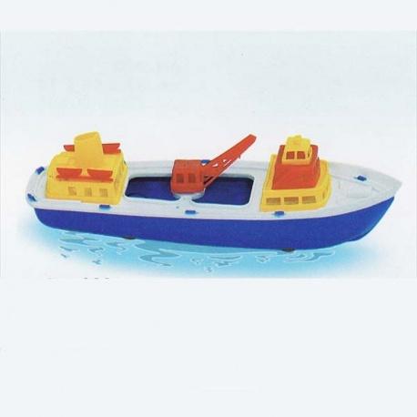 Pracovní loď s jeřábem 30cm - lodička do vody
