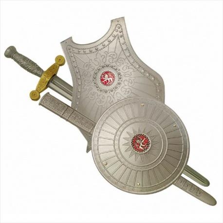 Sada rytíř - brnění, meč a štít