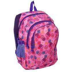Studentský batoh růžový Flowers