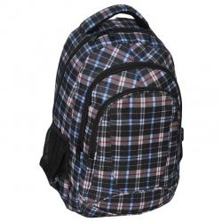 Studentský batoh dvoukomorový tmavá kostka