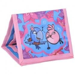 Textilní peněženka Angry Birds růžová ABI-002