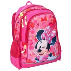 Školní batoh dvoukomorový Minnie růžový