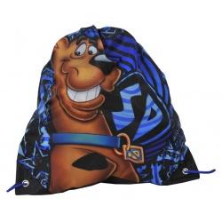 Pytel na tělocvik - přezůvky Scooby Doo modrý