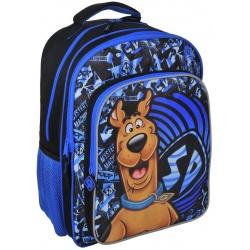 Školní batoh dvoukomorový Scooby Doo modrý
