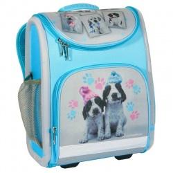 Luxusní školní batoh aktovka Pejsek modrá