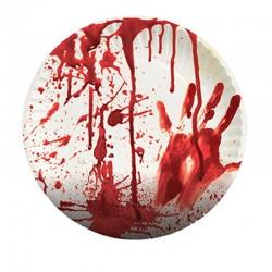 Papírové talíře - krvavé 8ks