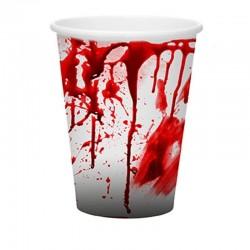 Papírové kelímky - krvavé 8ks