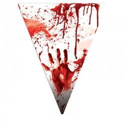 Girlanda vlajková - krvavá 5m