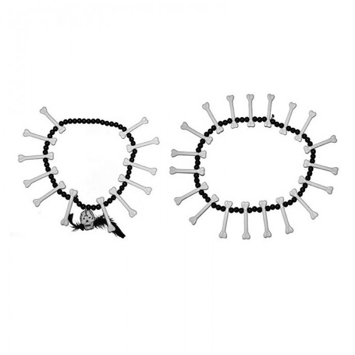 Náhrdelníky s kostmi - 2ks