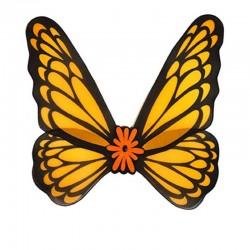 Křídla motýl oranžovo černá 76x73cm