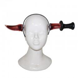 Nůž v hlavě - s krví