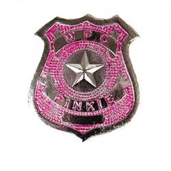 Policejní odznak - růžový