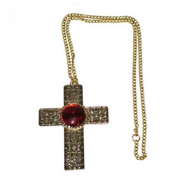 Náhrdelník - kříž s kamenem