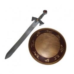 Meč a štít - řecko