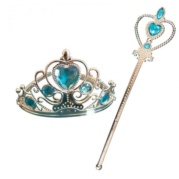 Korunka a hůlka pro princeznu - modrá