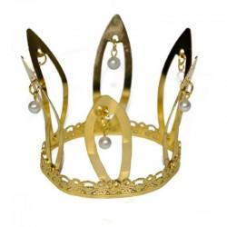 Zlatá korunka s perličkami