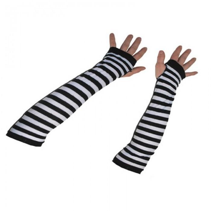 Návleky na ruce - rukavice černobílé