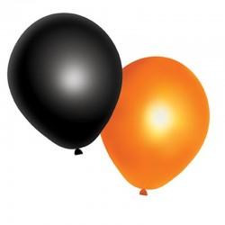 Balonky Halloween černé a oranžové - 10ks