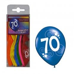 Balónky barevné - číslo 70 - 12ks