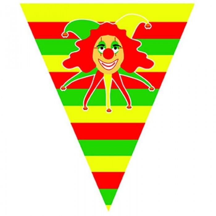Vlajková girlanda klaun - 5m
