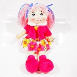 Hadrová panenka s vestičkou - růžová