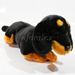 Plyšový jezevčík - černý