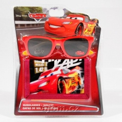 Peněženka a brýle Cars