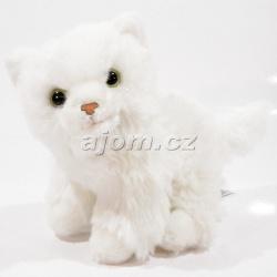 Plyšová kočka - bílá