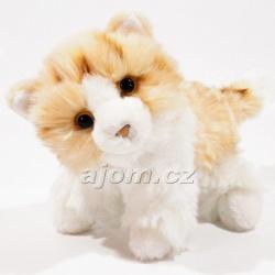 Plyšová kočka - rezavo bílá