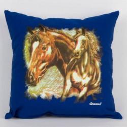 Svítící polštářek - Koně - modrý