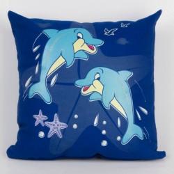 Svítící polštářek Delfíni
