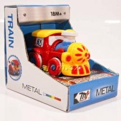 Mašinka - kovová - žlutá