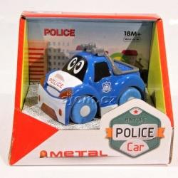 Autíčko kovové - policie - modré