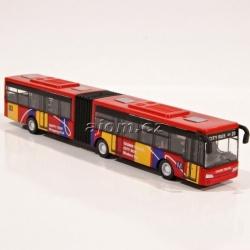 Autobus kovový - červený