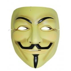 Maska Anonymous Vendeta žlutá