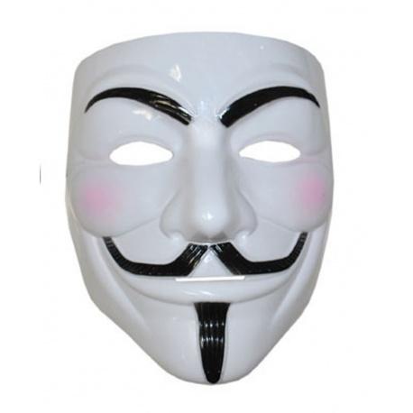 Maska Anonymous Vendeta bílá