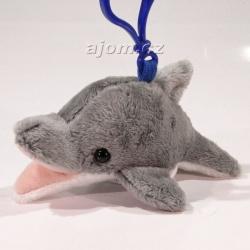 Plyšový přívěšek - klíčenka Delfín