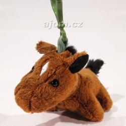Plyšový přívěšek - klíčenka Kůň