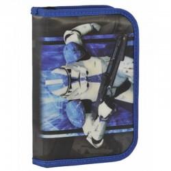 Školní pouzdro penál Star Wars Hvězdné války Stormtrooper - s chlopněmi a vybavením