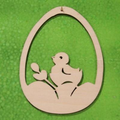 Velikonoční dekorace k zavěšení - kuřátko