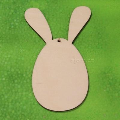 Velikonoční dekorace k zavěšení - vajíčko s oušky