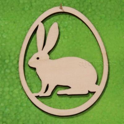 Velikonoční dekorace k zavěšení - zajíček
