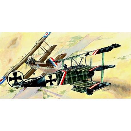 Fokker Dr.1 1:44 Směr plastikový model letadla ke slepení