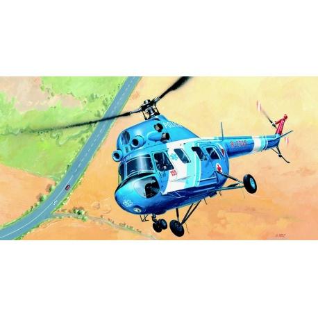 Vrtulník Mi 2 - Policie 1:48 Směr plastikový kliklak model