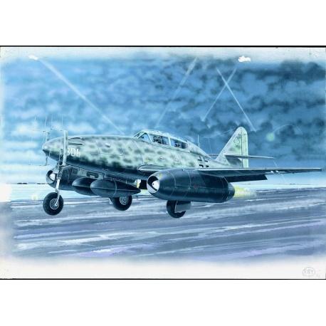 Messerschmitt Me 262 B 1:72 Směr plastikový model letadla ke slepení