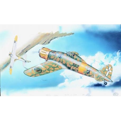 Macchi M.C. 200 Saetta 1:48 Směr plastikový model letadla ke slepení