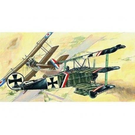 Fokker Dr.I 1:72 Směr plastikový model letadla ke slepení